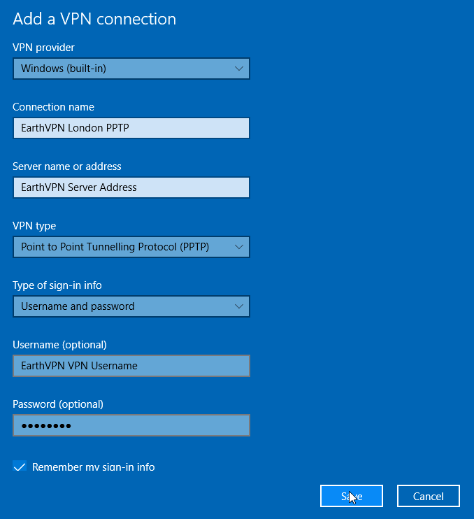 Windows10step3 Windows 10 – PPTP VPN Setup Tutorial : Cheap Anonymous VPN Service with SSTP, PPTP, L2TP and OpenVPN Protocols   BitCoin and AliPay Accepted